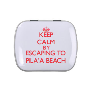 Guarde la calma escapándose a la playa Hawaii de P Latas De Caramelos