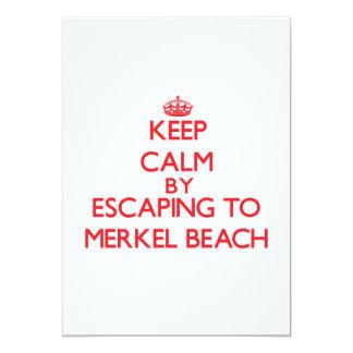 Guarde la calma escapándose a la playa invitación 12,7 x 17,8 cm