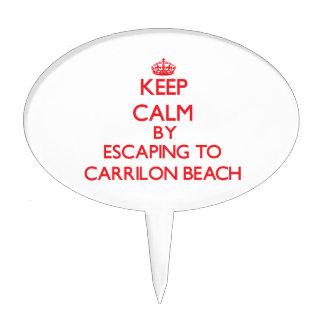 Guarde la calma escapándose a la playa la Florida Decoración Para Tarta
