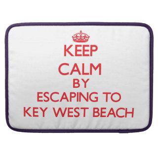 Guarde la calma escapándose a la playa la Florida Fundas Macbook Pro