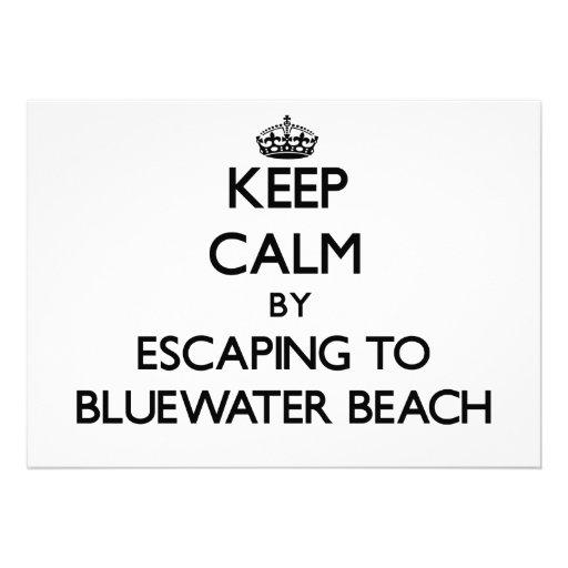 Guarde la calma escapándose a la playa la Florida  Invitaciones Personalizada