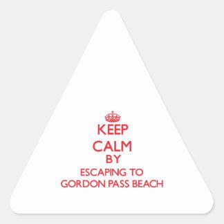 Guarde la calma escapándose a la playa la Florida Calcomanía De Triangulo Personalizadas