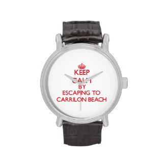 Guarde la calma escapándose a la playa la Florida Relojes