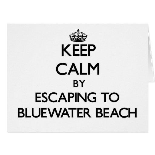 Guarde la calma escapándose a la playa la Florida  Felicitación
