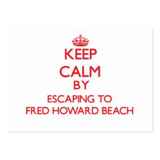 Guarde la calma escapándose a la playa la Florida  Plantilla De Tarjeta Personal