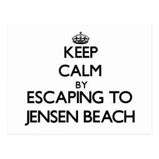 Guarde la calma escapándose a la playa la Florida Postal