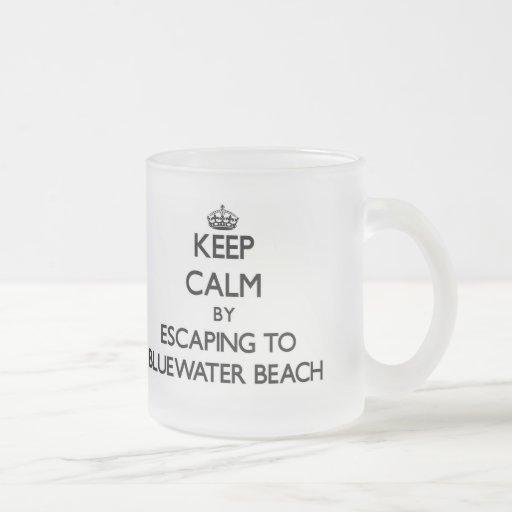 Guarde la calma escapándose a la playa la Florida  Taza