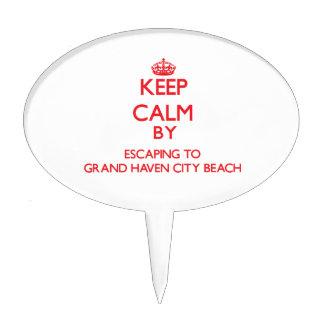 Guarde la calma escapándose a la playa magnífica M Decoraciones De Tartas