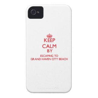 Guarde la calma escapándose a la playa magnífica M iPhone 4 Carcasa