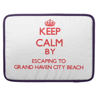 Guarde la calma escapándose a la playa magnífica M Funda Macbook Pro