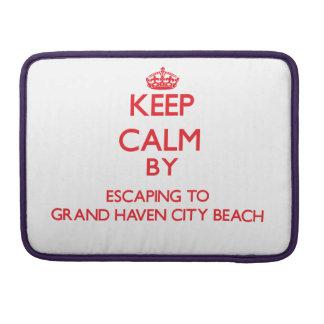 Guarde la calma escapándose a la playa magnífica M Funda Para Macbook Pro