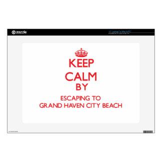 Guarde la calma escapándose a la playa magnífica M Skins Para Portátiles
