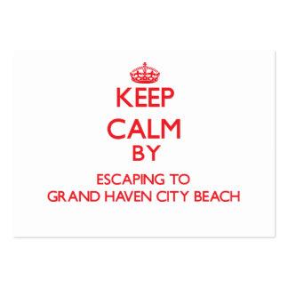 Guarde la calma escapándose a la playa magnífica M Plantillas De Tarjeta De Negocio
