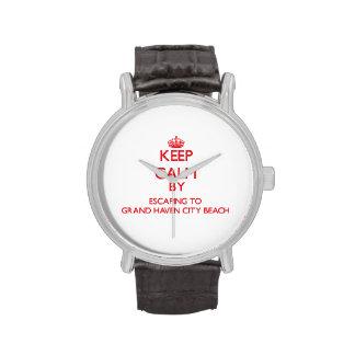 Guarde la calma escapándose a la playa magnífica relojes de mano