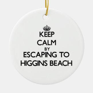 Guarde la calma escapándose a la playa Maine de Adorno Redondo De Cerámica