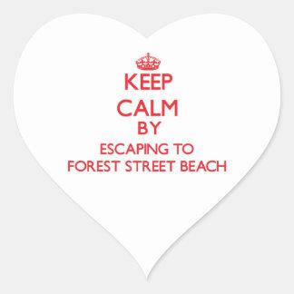 Guarde la calma escapándose a la playa Massa de la Calcomania Corazon