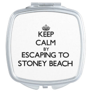 Guarde la calma escapándose a la playa Massachuset Espejo Maquillaje
