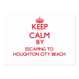 Guarde la calma escapándose a la playa Michi de la Tarjetas De Visita Grandes