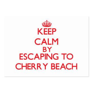 Guarde la calma escapándose a la playa Michigan de Tarjetas De Visita Grandes