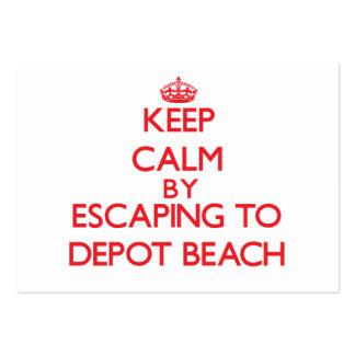 Guarde la calma escapándose a la playa Michigan Tarjetas De Visita Grandes