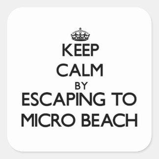 Guarde la calma escapándose a la playa micro Mari