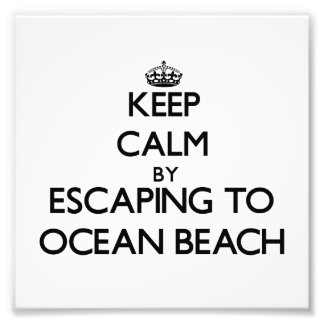 Guarde la calma escapándose a la playa Nueva York  Impresión Fotográfica