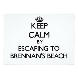 """Guarde la calma escapándose a la playa Nueva York Invitación 5"""" X 7"""""""