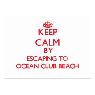 Guarde la calma escapándose a la playa Nueva York  Tarjeta De Negocio