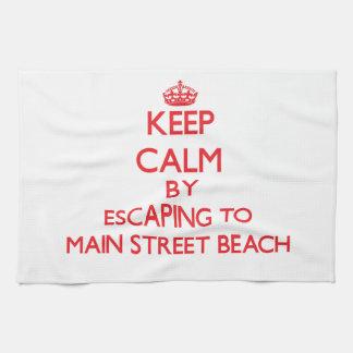 Guarde la calma escapándose a la playa nuevo Yor d Toallas De Mano