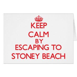 Guarde la calma escapándose a la playa tarjeta de felicitación