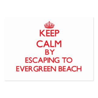 Guarde la calma escapándose a la playa tarjetas de visita grandes