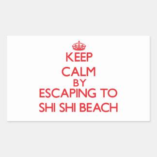 Guarde la calma escapándose a la playa Washington Rectangular Altavoz