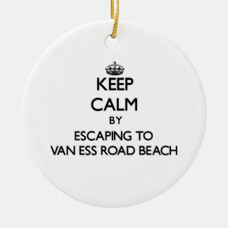Guarde la calma escapándose a la playa Wiscon de Adorno Redondo De Cerámica