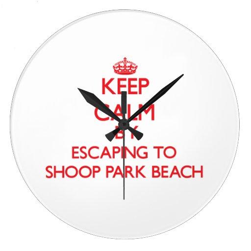 Guarde la calma escapándose a la playa Wisconsi de Reloj De Pared