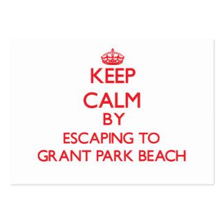 Guarde la calma escapándose a la playa Wisconsi Tarjetas De Visita Grandes