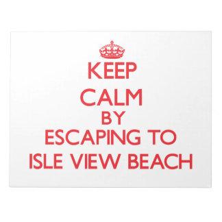Guarde la calma escapándose a la playa Wisconsin d Libretas Para Notas