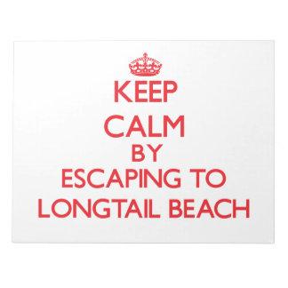 Guarde la calma escapándose a la playa Wisconsin d Blocs De Papel