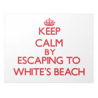 Guarde la calma escapándose a la playa Wisconsin d Bloc De Notas