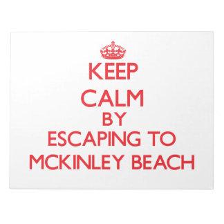 Guarde la calma escapándose a la playa Wisconsin d Blocs De Notas