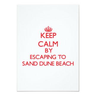 Guarde la calma escapándose a la playa Wisconsin Invitación 12,7 X 17,8 Cm