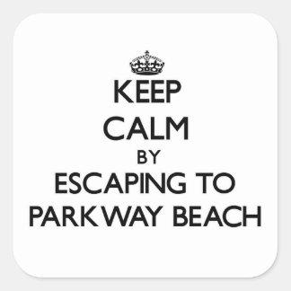 Guarde la calma escapándose a la playa Wisconsin Colcomanias Cuadradases