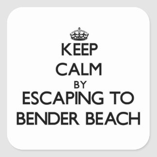 Guarde la calma escapándose a la playa Wisconsin Calcomanía Cuadradas Personalizadas