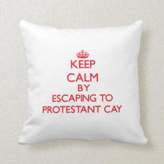 Guarde la calma escapándose a la Virgen protestant Cojines