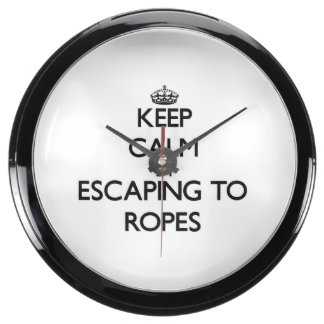 Guarde la calma escapándose a las cuerdas Massachu Relojes Acuario