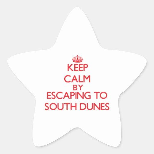 Guarde la calma escapándose a las dunas del sur Ge Colcomanias Forma De Estrellas