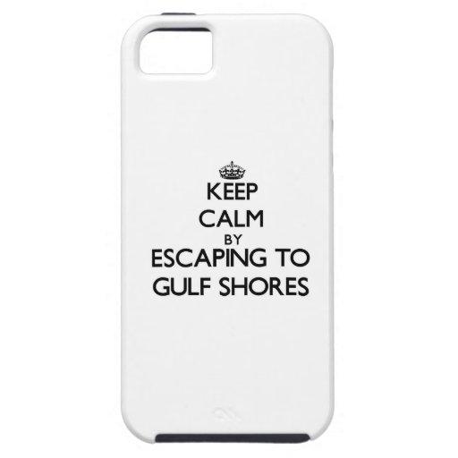 Guarde la calma escapándose a las orillas Tejas de iPhone 5 Case-Mate Carcasa