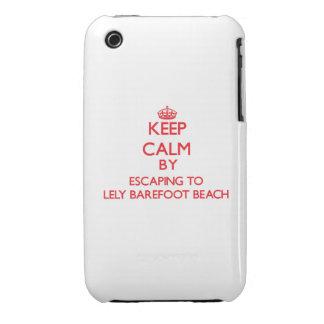 Guarde la calma escapándose a Lely descalzo para v Case-Mate iPhone 3 Fundas