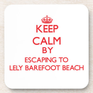 Guarde la calma escapándose a Lely descalzo para v Posavaso