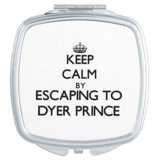 Guarde la calma escapándose a príncipe Massachuset Espejos Para El Bolso