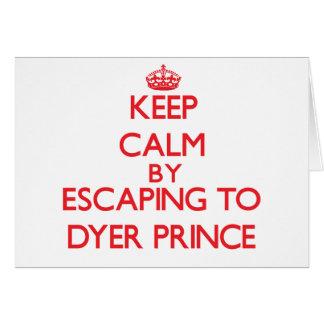 Guarde la calma escapándose a príncipe tarjeta de felicitación